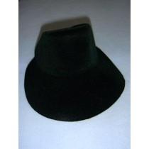 "|Hat - Flocked Bonnet - 6"" Dark Green"