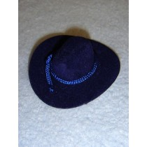 "|Hat - Flocked Cowboy - 2"" Royal Blue"