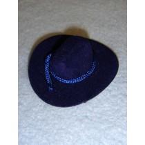 "|Hat - Flocked Cowboy - 2"" Royal Blue"