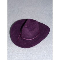 "|Hat - Flocked Cowboy - 5"" Purple"