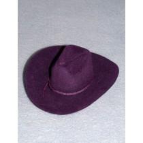 "|Hat - Flocked Cowboy - 5"" Purple"