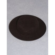 "|Hat - Flocked Sunday - 3 3_4""  Black"