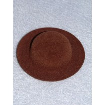"|Hat - Flocked Sunday - 3 3_4""  Dark Brown"