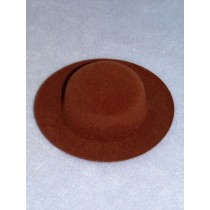 "|Hat - Flocked Sunday - 5"" Dark Brown"