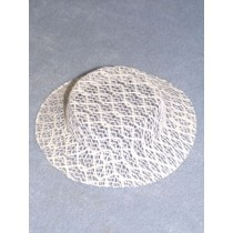 "|Hat - Lace - 5"" White"