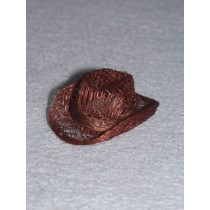"|Hat - Sinamay Cowboy - 2"" Brown Pkg_6"