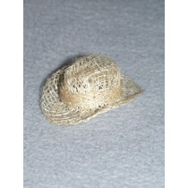 "|Hat - Sinamay Cowboy - 2"" Natural Pkg_6"