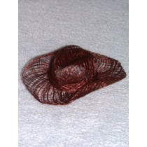 "|Hat - Sinamay Cowboy - 3"" Brown Pkg_6"