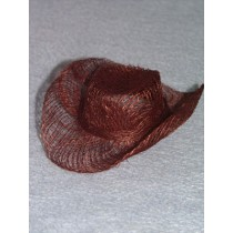 "|Hat - Sinamay Cowboy - 4"" Brown Pkg_6"