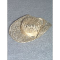 "|Hat - Sinamay Cowboy - 4"" Natural Pkg_6"