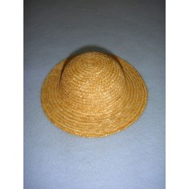 "|Hat - Straw - 4 1_2"" Natural"