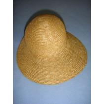 "|Hat - Straw Bonnet - 7"" Natural"