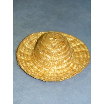 "|Hat - Wavy Brim Straw - 6"" Natural"