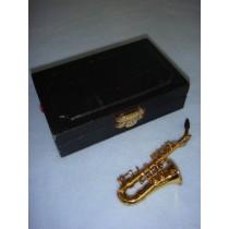 "|Instrument - Alto Saxaphone - 4"" Brass"
