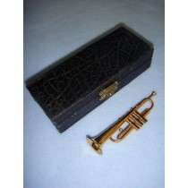 "|Instrument - Smaller Trumpet - 4"" Brass"