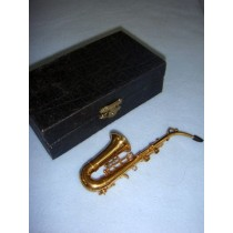 "|Instrument - Tenor Saxaphone - 5"" Brass"