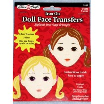 |Iron-On Doll Face Transfers