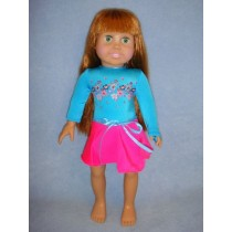 "|Leotard & Skirt for 18"" Doll"