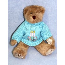 "|Light Blue ""Happy Birthday"" Sweater"