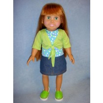 "|Lime Shrug & Skirt - 18"" Dolls"