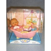 |Mini Nursery Doll w_Bathtub