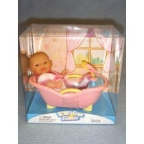 |Mini Nursery Doll w_Bathtub