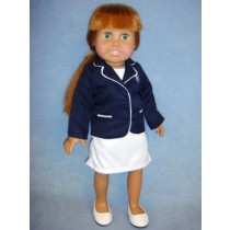 "|Navy Blazer & Dress for 18"" Doll"