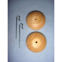 "|Neck Button - 1 3_8"" Wooden"