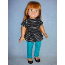 "|Peplum Top & Pants for 18"" Dolls"