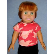 "|Pink Camo T-Shirt for 18"" Doll"