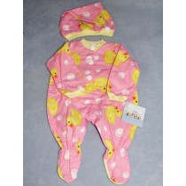 "|Pink Sleeper & Cap 19-21"" Dolls"