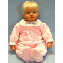 "|Pink Velour Sleeper - 20"" Doll"