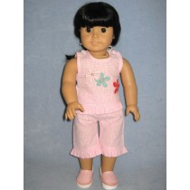 "|Pink & White Daisy Outfit - 18"" Doll"