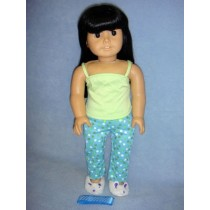 "|Polka Dot Pajamas & Slippers for 18"" Dolls"