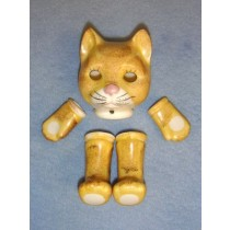 |Porcelain - Glazed Cat - 3""