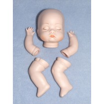 |Porcelain - Sleeping Baby Set - 3 1_2""