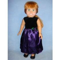 |Purple Satin Dress