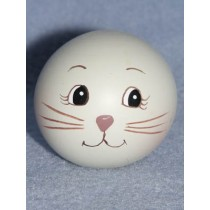 "|Resin-Painted Head -1"" Rabbit"