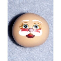 "|Resin -Painted Doll Head-1"" Santa"