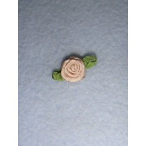 |Ribbon Rose - 10mm Toffee Silk (Pkg_6)