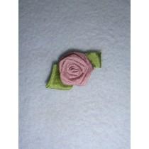|Ribbon Rose - 18mm Antique Grape Silk (Pkg_5)