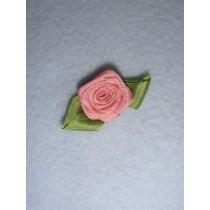 |Ribbon Rose - 18mm Dusty Rose Silk (Pkg_5)