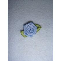 |Ribbon Rose - 18mm French Blue Silk (Pkg_5)
