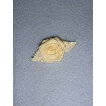 |Ribbon Rose - 18mm Ivory_Ivory Silk (Pkg_5)