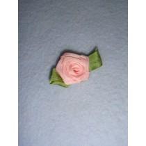|Ribbon Rose - 18mm Light Pink Silk (Pkg_5)