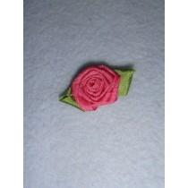 |Ribbon Rose - 18mm Mauve Silk (Pkg_5)