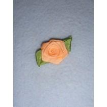 |Ribbon Rose - 18mm Peach Silk (Pkg_5)