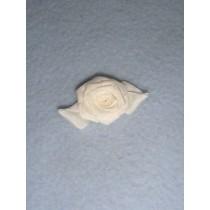 |Ribbon Rose - 18mm White_White Silk (Pkg_5)