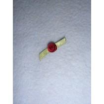 |Ribbon Rose - 6mm Burgundy (Pkg_6)