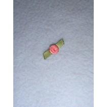 |Ribbon Rose - 6mm Dusty Rose (Pkg_6)